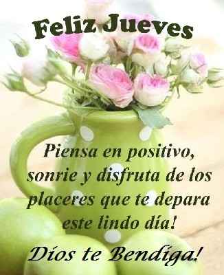 feliz jueves positivo