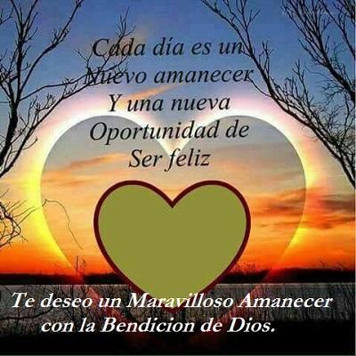 maravilloso amanecer bendición