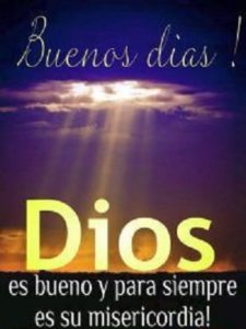 mensajes para saludar dios