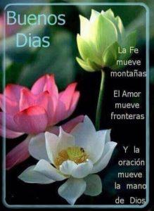 buenos días cada mañana Dios