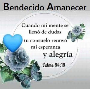 Buenos Dias con Palabra de Dios alegria