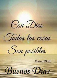 Buenos Dias con Palabra de Dios Bendecido