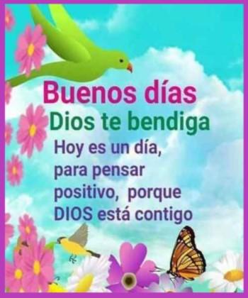 mensajes de buenos días Dios