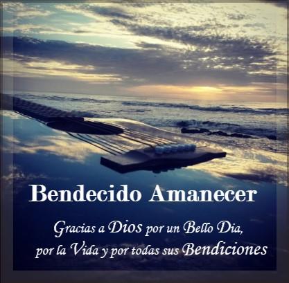bendecido amanecer agradecimiento